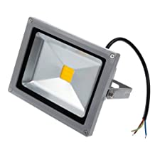 Lemonbest® 20 Watt LED Flood Light, Outdoor Security Wall Wash Landscape Floodlight, Warm White