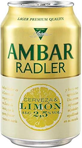 Cerveza Ambar Radler pack 24 latas 33 cl
