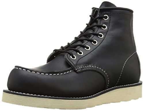 "Red Wing Heritage Moc 6"" Boot, Black Harness, 7.5 D(M) US"