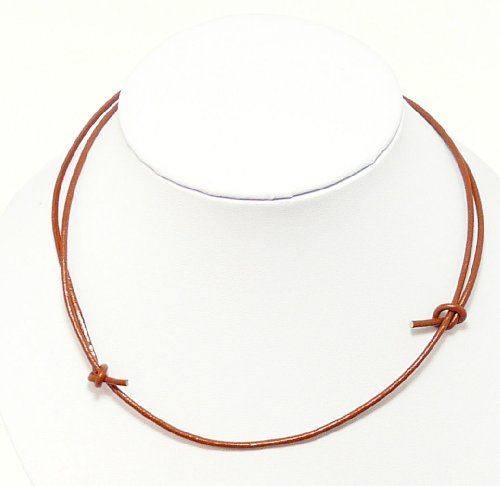 Mens Brown Leather Cord Necklace Leather Choker Leather Necklace