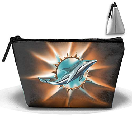 - Miami Dolphin Pencil Case Pen Zipper Bag Coin Organizer Makeup Costmetic Bag Pouch