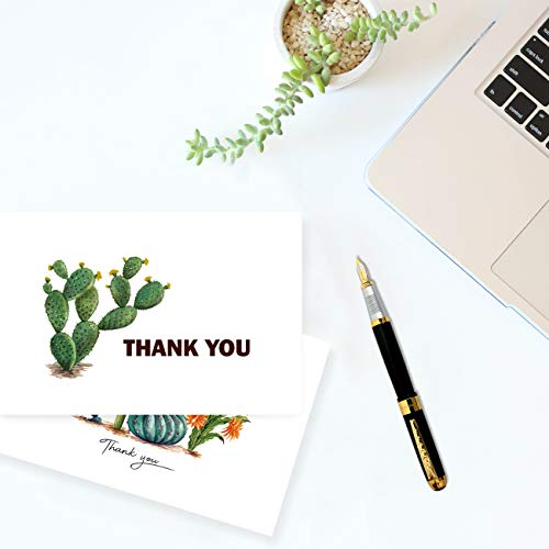 Thank You Cards 36 Bulk Blank Folded Watercolor Cactus Thank You Notes With Self Seal Envelopes - 6 Design, 4 x 6 inch - Perfect for Wedding, Bridal Party, Baby Shower, Graduation,Business,Friends Photo #6