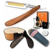 DOVO Straight Razor Set 5/8 Olivewood Scales and Luxury Shave Set