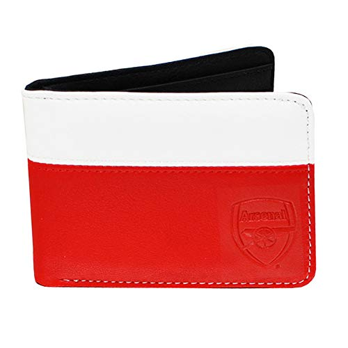Arsenal 2 Tone Debossed Crest PU Leather Wallet (One Size) (Red/White/Black)