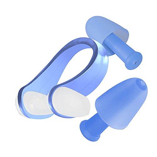 Diving swimming earplugs nose clip set Pince-nez de natation Ski nautique Professionnel Bouchons d'oreille Natation Pince-nez Set Equipement de plongée Bouchon nasal Tondeuse à nez