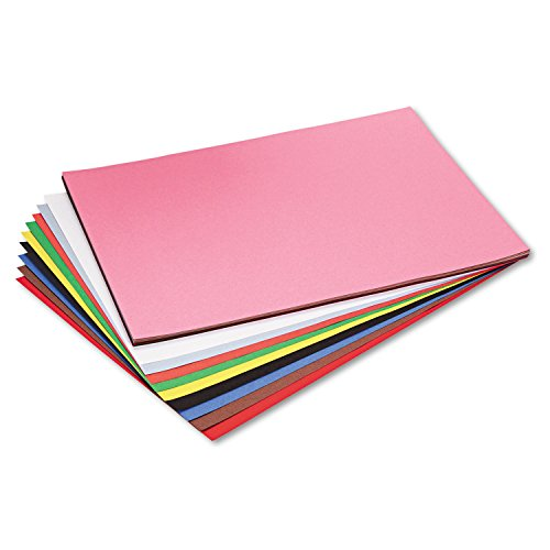 Pacon 103478 Riverside Construction Paper, 76 lbs, 18 x 24, Assorted, 50 Sheets/Pack