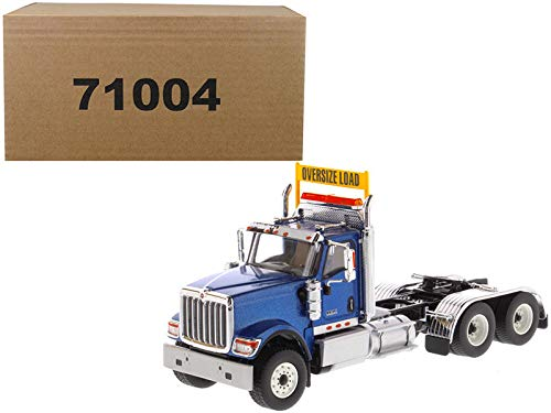 - StarSun Depot New International HX520 Day Cab Tandem Tractor Blue 1/50 Diecast Model by Diecast Masters
