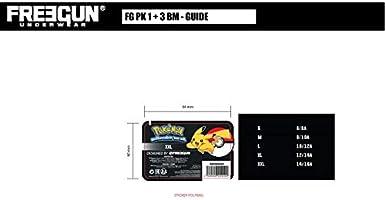 FREEGUN Boxer Garcon Microfibre Couronne Pokemon Multicolore