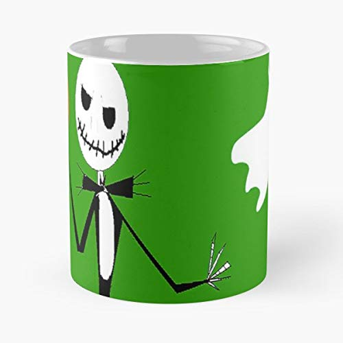 (Halloween Skeleton - 11 Oz Coffee Mugs Unique Ceramic Novelty Cup, The Best Gift For Halloween.)