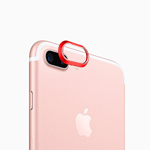 Sakula Camera Lens Protector Plating Aluminum for iPhone 7 Plus iPhone 8 Plus Cameral Case Cover Ring Red