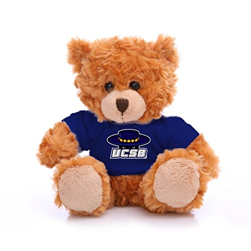 "Plushland NCAA Collegiate Jersey Bear 6"" – Team Sports Vivid Clear Color Toy, Stuffed Animals Toy, State University, School Logo For kids, Bulk Parties Edition (Uc Santa (Towards Santa)"
