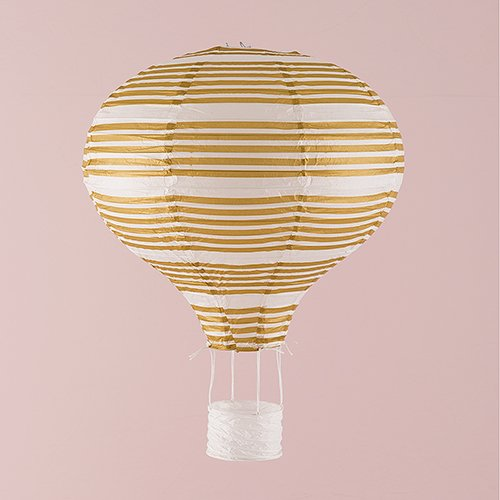Hot-Air-Balloon-Paper-Lantern-Set-in-Gold-and-White-Vintage-Gold