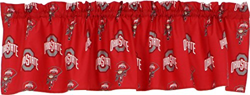 College Covers Ohio State Buckeyes Printed Curtain Valance - 84