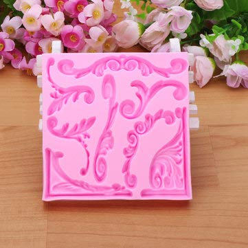 3D Leaf Silicone Fondant Lace Mold Cake Decoarting Mould - Bakeware & Accessories Fondant Pastry Moulds - 1 X 3D Leaf Silicone Fondant Lace Mold -