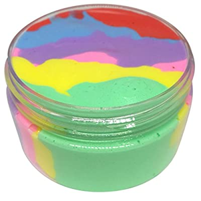 Unionm Slime Toys, 100ml Colorful Fluffy Floam Putty Sludge Clay Toy Crystal Mud Plasticine Soft and Non-Sticky Scented DIY Gifts for Kids Boys Girls Stress Anxiety Relief (Multicolor): Toys & Games