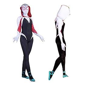 - 41tyYfMIOaL - Spider Gwen Stacy Bodysuit Cosplay Costume | Gwen Stacy Spider Suit Anti-Venom Gwen Zentai Suit