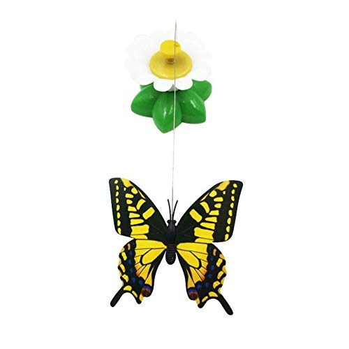 Truck Excavator Eco - Cat Toys - 1 Pcs Electric Rotating Cat Toys Flower Butterfly Birds Steel Wire Dog Teaser Pet Toy Gatos - Track Exercise Attachment Holder Squeak Squirrel Wand Automatic Over Excavator Grou