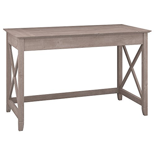Bush Furniture Key West Collection 48W Writing Desk in Washed Gray (Stores In West Key Furniture)