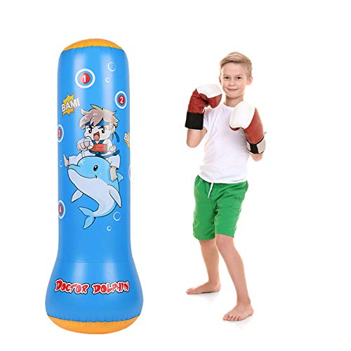 Kids Punching Bag Bounce Back – Free Inflatable Standing Boxing Bag for Immediate Bounce Back Heavy Punching Bag for…