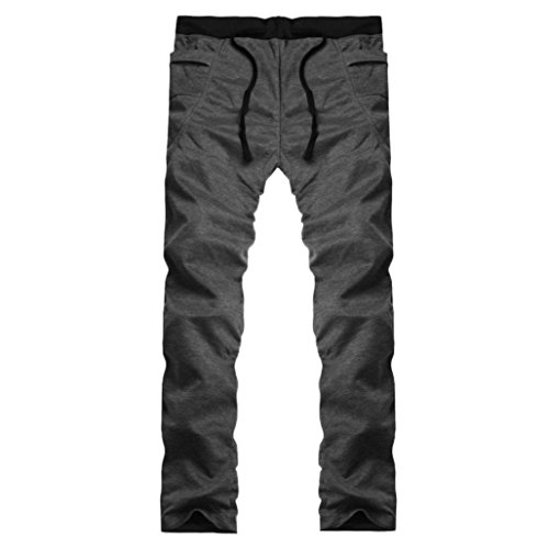 DRACLE Sweatpants, Plus Size Lightweight Trousers Jogger Running Sport Pants for Mens Four Seasons (Dark Gray, XL)