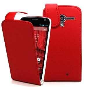 Accessory Master- Roja Funda de pu Cuero para Motorola Moto X