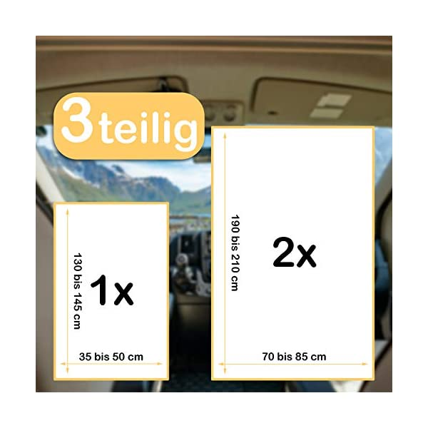 41tya3Ug%2BNL PRONOVATION® Oeko-TEX Spannbettlaken für Wohnmobil & Wohnwagen - 3 teilig in grau - 97% Baumwolle, 3% Elastan, Heckbett…