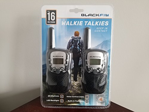 Walkie Talkies by Black Fin 22 Channels - 2 Way - 16 Mile Ra