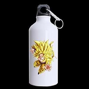 Sweetshow Custom Dragon Ball Super Saiyan Goku Sports Fitness Water Bottle Travel Mug 100% Aluminum - 13.5 OZ Twin Sides