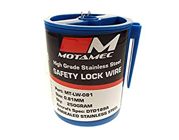 motamec Motorsport 0,81 mm Aviones Spec dtd189 Cable de bloqueo de seguridad de acero inoxidable: Amazon.es: Coche y moto