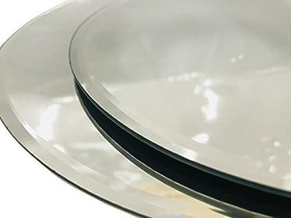 INERRA Redondo Espejo de Cristal Placa para Mesa Boda centros de Mesa, Velas y de