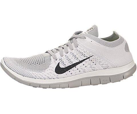 Nike Women's Free Flyknit 4.0 White/Black/Pr Pltnm/Wlf Gry Running Shoe 7.5 Women US