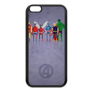 8Bit - Marvel Avengers Black Silicon Rubber Case for iPhone 6 Plus by DevilleArt + FREE Crystal Clear Screen Protector