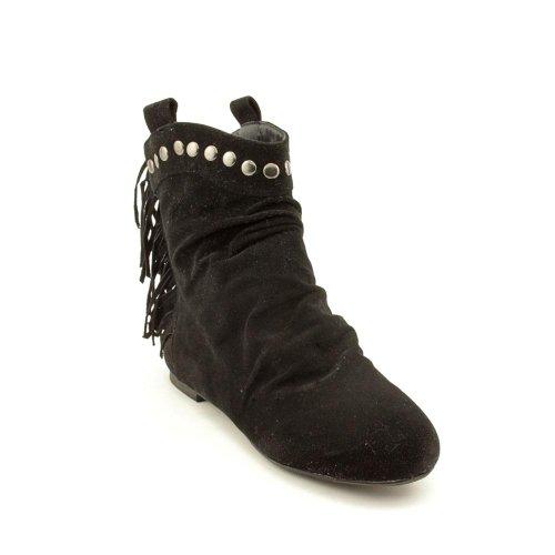 Rebels Women's Saldana Ankle Boot,Black,6.5 M US