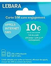 Lebara SIM-kaart (Frankrijk) Incl. EUR 7,50 tegoed - Frans telefoonnummer