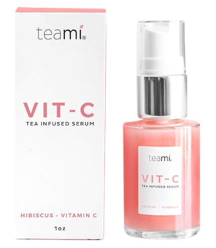 Teami Topical Vitamin C Serum - 1 fl oz. with Hyaluronic Acid, Collagen, and Vitamin E Oil (Best Topical Vitamin C Products)