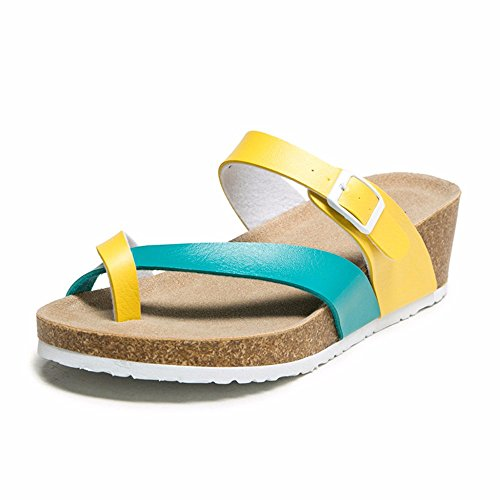 mujer YMFIE Zapatillas amarillo para antideslizantes xqrUtw8YqR