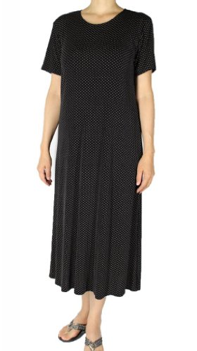 Maxi Size Short USA Women's Calison Made Plus Dress In Slinky Knit With Sleeve z6Ffwx