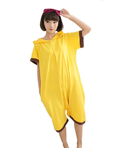 Yimidear Unisex Pikachu Costume Summer Cute Cartoon Cotton Pajamas Animal Onesie,Pikachu,Large by Yimidear (Image #2)