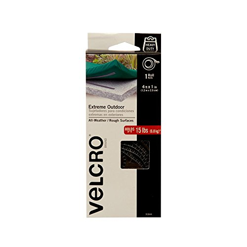 VELCRO Brand - Industrial Strength Extreme Outdoor | Heavy Duty, Superior Holding Power on Rough Surfaces | Tape – 4ft x 1in | (4x4' Patch)