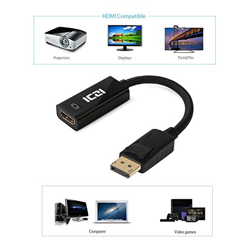 chic ICZI DisplayPort to HDMI, 4K DP to HDMI Adapter for GTX