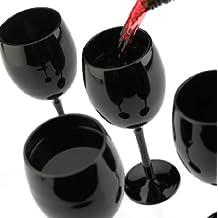 Black Wine Glasses - Set of 4