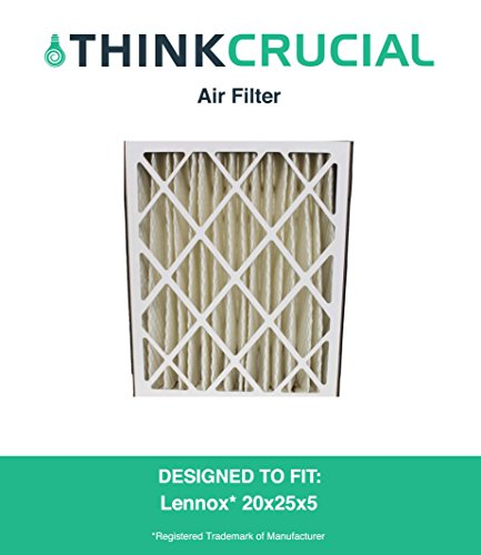 Lennox 20x25x5 Merv 8 Replacement Air Filter Fits X6673, Replaces HCXF20-10, HCF20-10, EXPXXFIL0020, EXPXXUNV0020, EXPXXLMC0020, FILCCCAR0020, FC35A1027, FC100A1037, FC200E1037 & F35Expandapac, Designed & Engineered by Crucial Air