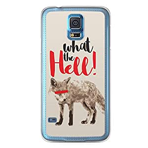 Fox Samsung Galaxy S5 Transparent Edge Case - What the Hell Collection