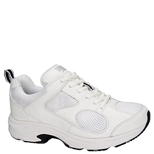 A Dessiné La Chaussure Womens Flash Ii Sneakers Cuir Blanc / Maille Blanche