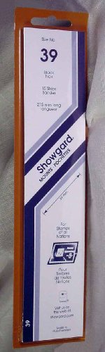Showgard Strip Style Black Stamp Mounts Size 39