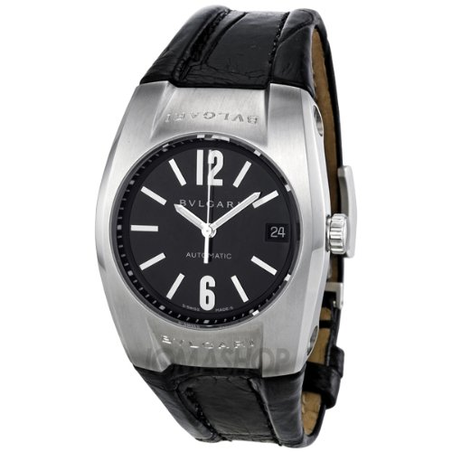 Bvlgari Eragon Black Dial Leather Mens Watch EG35BSLD