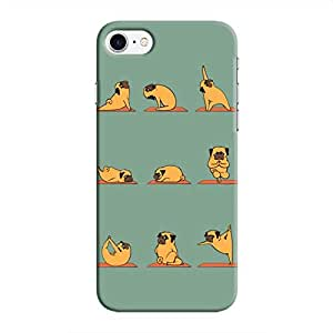 Cover It Up Dog Yoga Hard Case for iPhone 8 - Multi Color