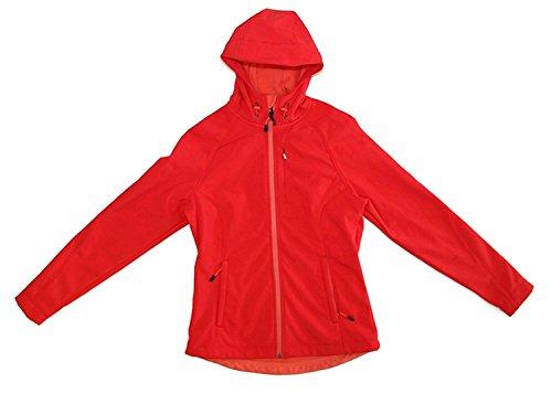 Kirkland Signature Softshell Hooded Womens Jacket (X-Large, Red)