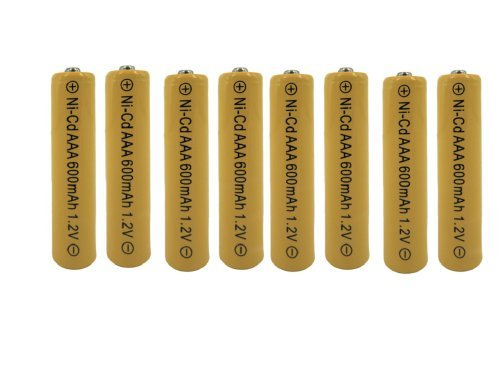 8 Pack Yellow NiCd AAA Rechargeable Battery for Cordless Phones