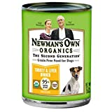 Newman's Own Organics USDA Organic 95% Turkey & Liver Grain-Free Dinner for Dogs – 12x 12.7 oz